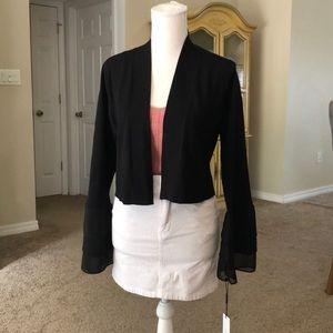 Calvin Klein Black blazer bell sleeve Medium
